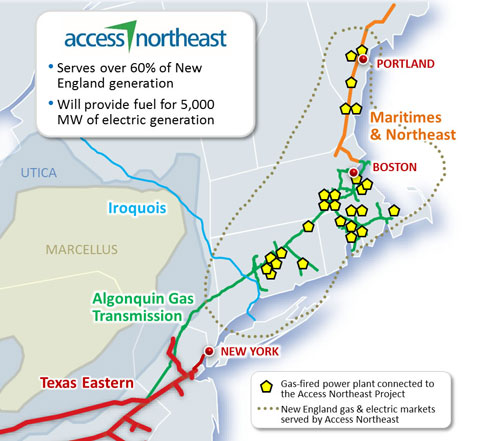 MAP Access Northeast - gas pipeline capacity - electric utility purchases-ferc