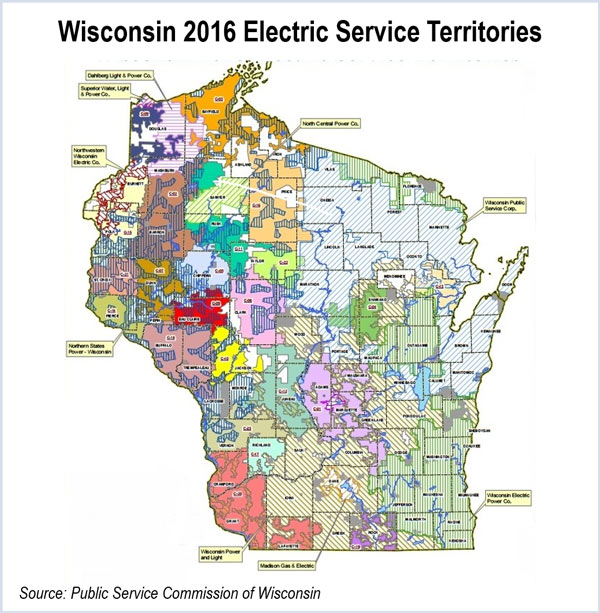 Wisconsin Utilities Map Wisconsin Public Service Natural Gas Map